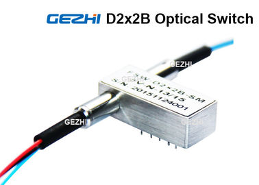 D2x2B Multimode Optical Switches 850nm Dual 2x2 Bypass , Fiber Optic Switches